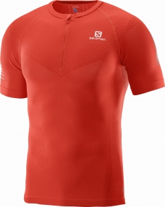 Koszulka SALOMON Exo Motion HZ SS TEE Fiery Red