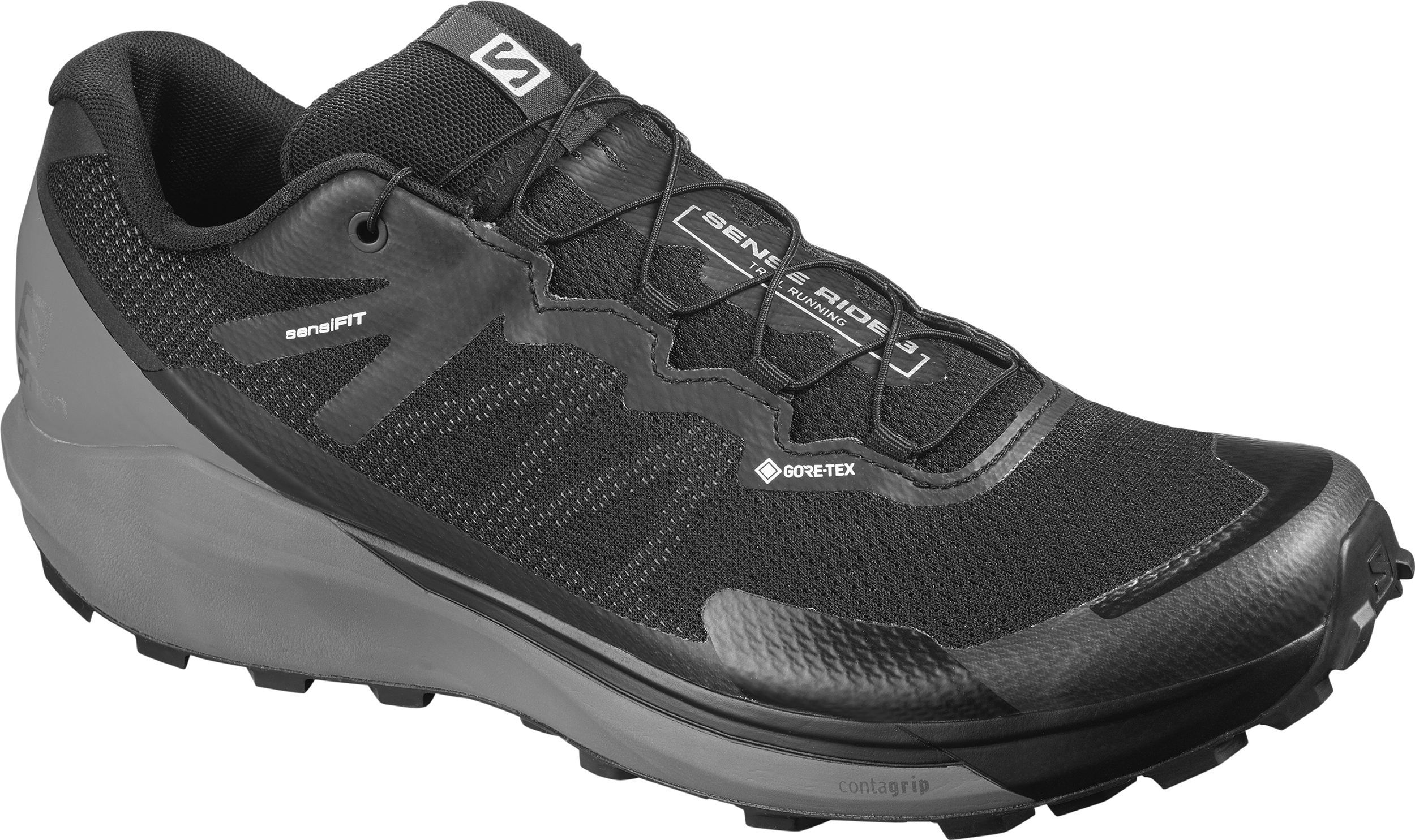 Buty Salomon Sense Ride 3 GTX Invisible Fit Black